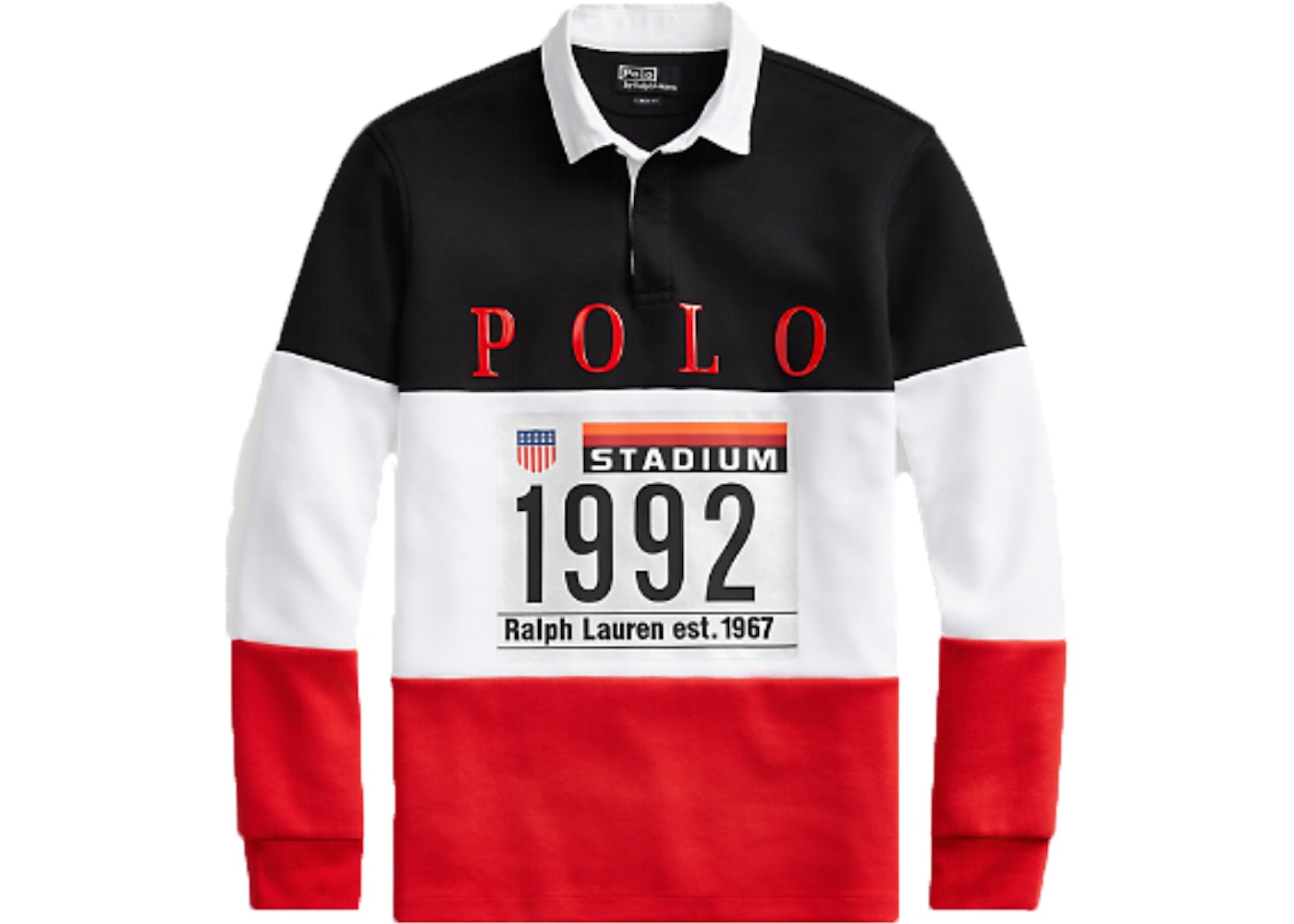 a4ce99b8c40 Polo Ralph Lauren Winter Stadium Rugby Shirt White Multi - FW18
