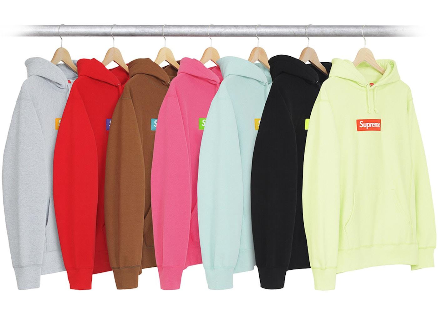 73a8adea Supreme Re-StockX Supreme Box Logo Hoodie (FW17) Multicolor -