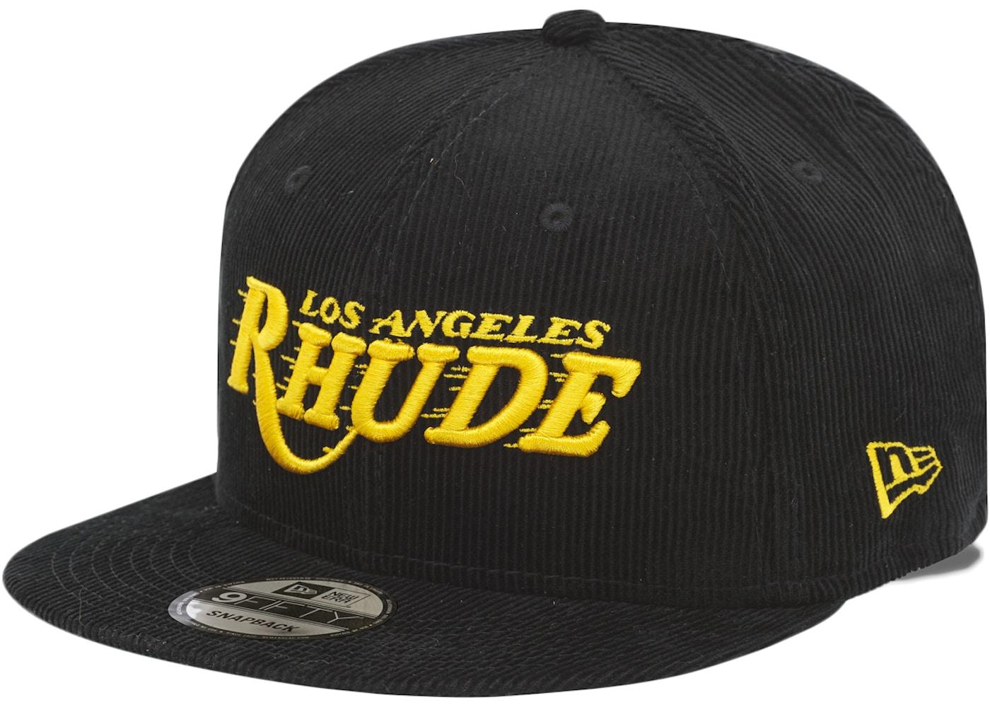 Rhude X Los Angeles Lakers New Era Dreamers Hat Black Gold Fw20