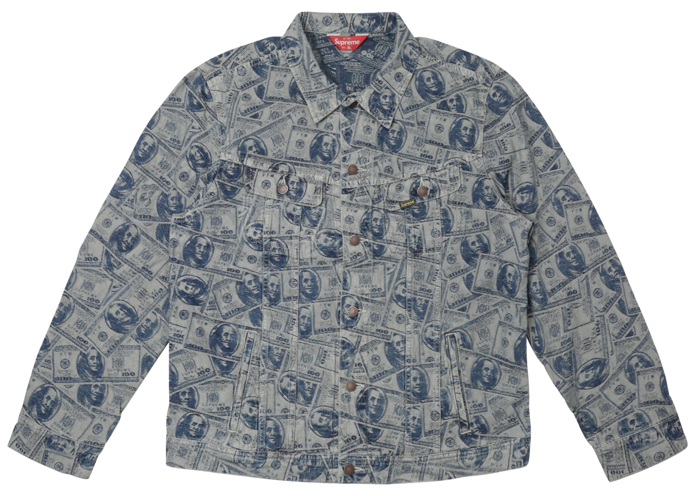 Supreme 100 Dollar Bill Trucker Jacket
