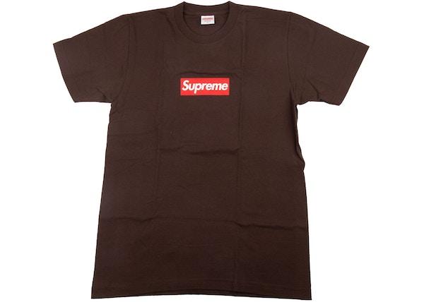 6e84f1cda538 Supreme 20th Anniversary Box Logo Tee Brown