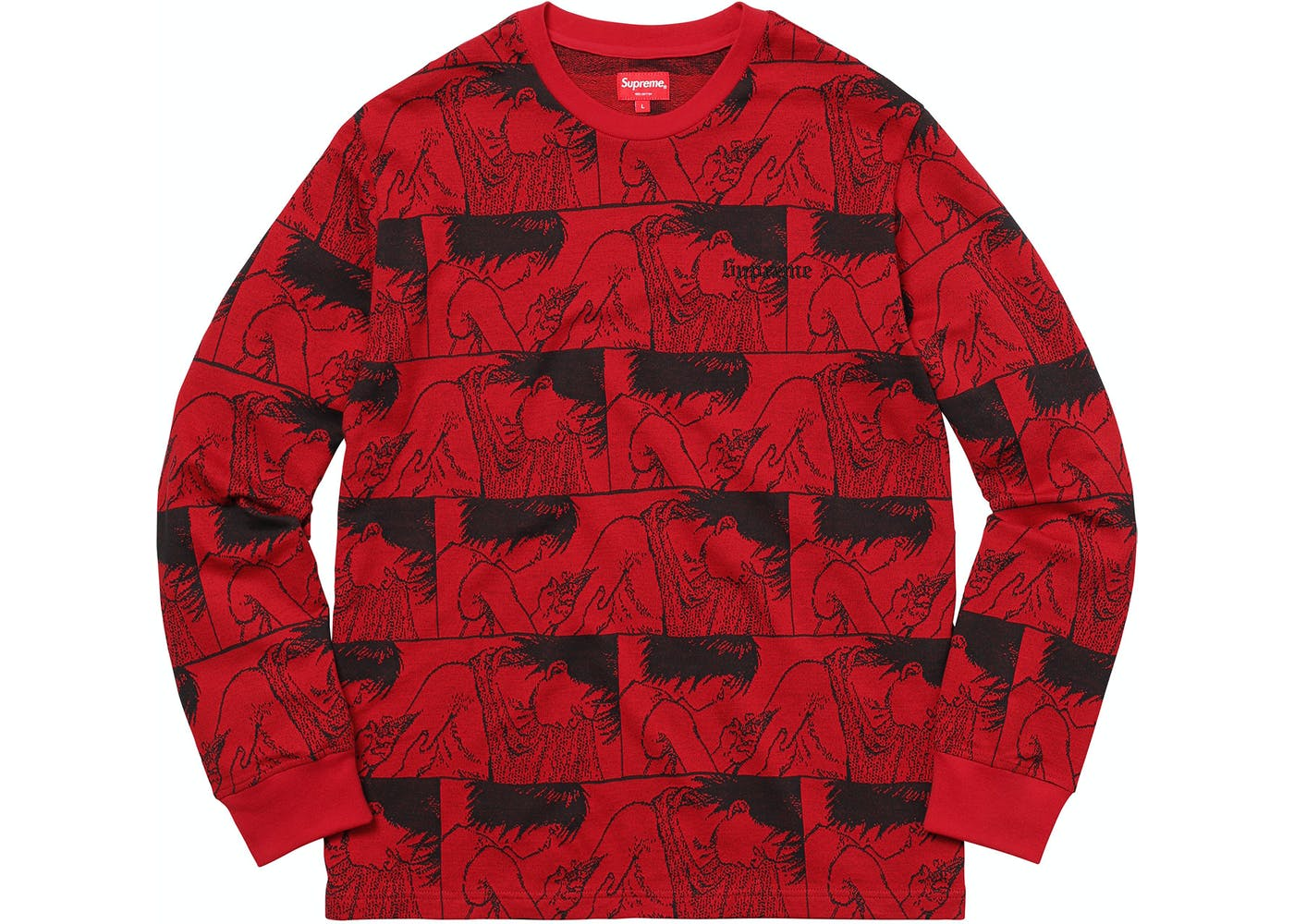 AKIRA Syringe Jacquard L/S Top Red