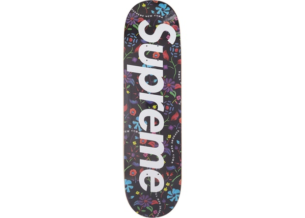 7a0da4f3 Supreme Airbrushed Floral Skateboard Deck Black