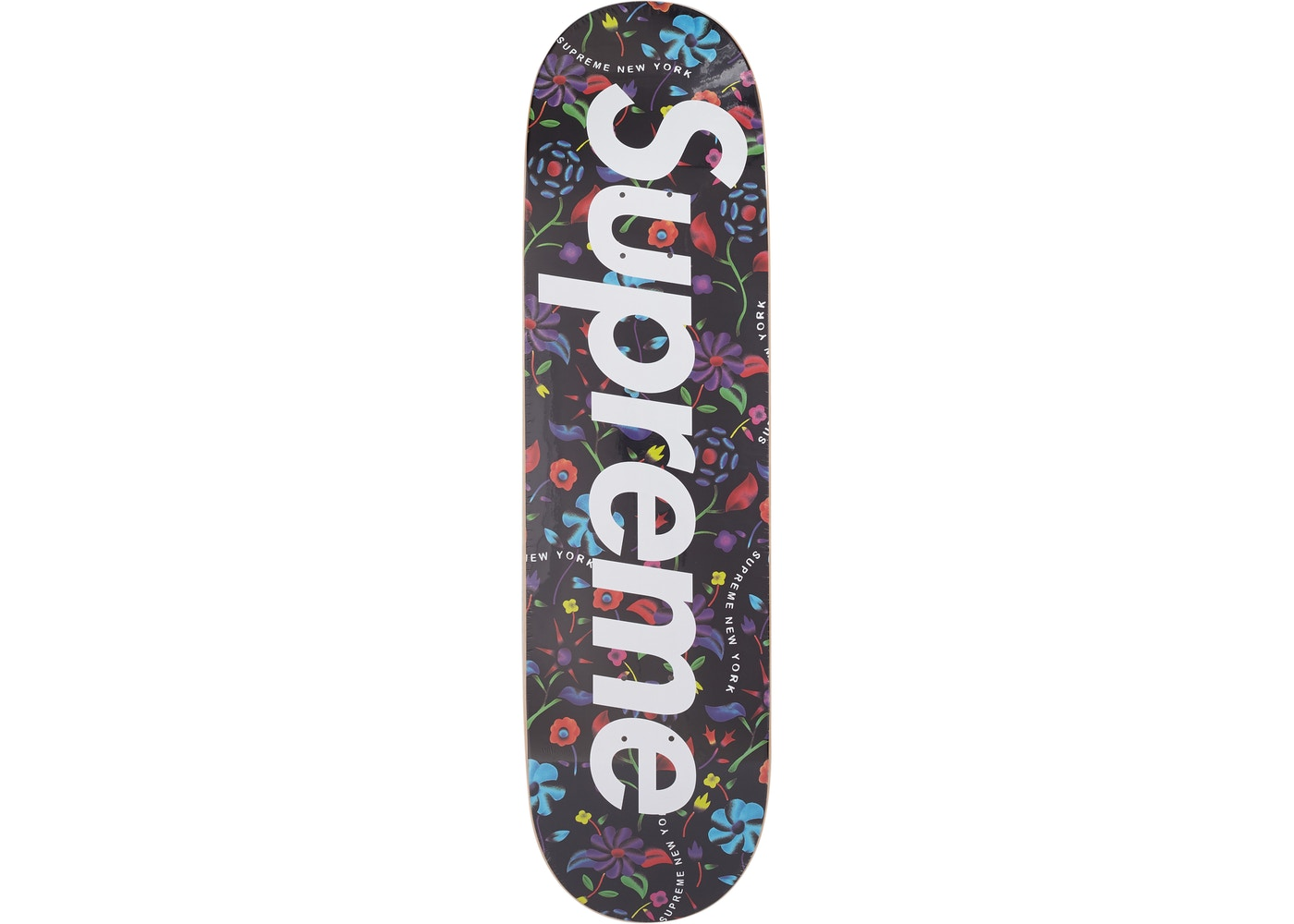 586d7103 Supreme Airbrushed Floral Skateboard Deck Black - SS19