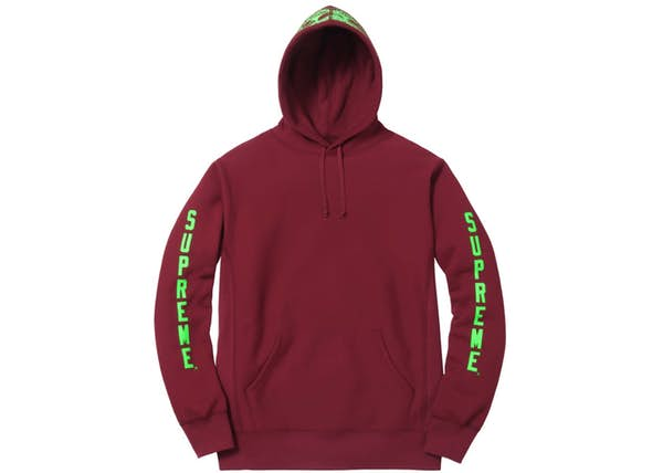 01966cbef0a7 Supreme Anti Hero Hooded Sweatshirt Burgundy - SS16