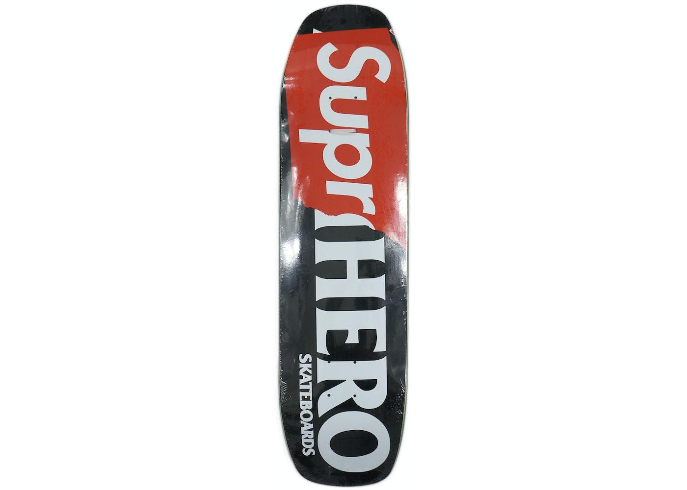 a32f444e7a Supreme Antihero Supr-Hero Skateboard Deck Black - SS14