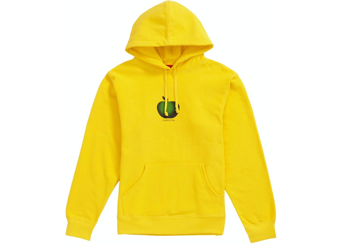 d8aca444c Supreme Apple Hooded Sweatshirt Yellow - SS19