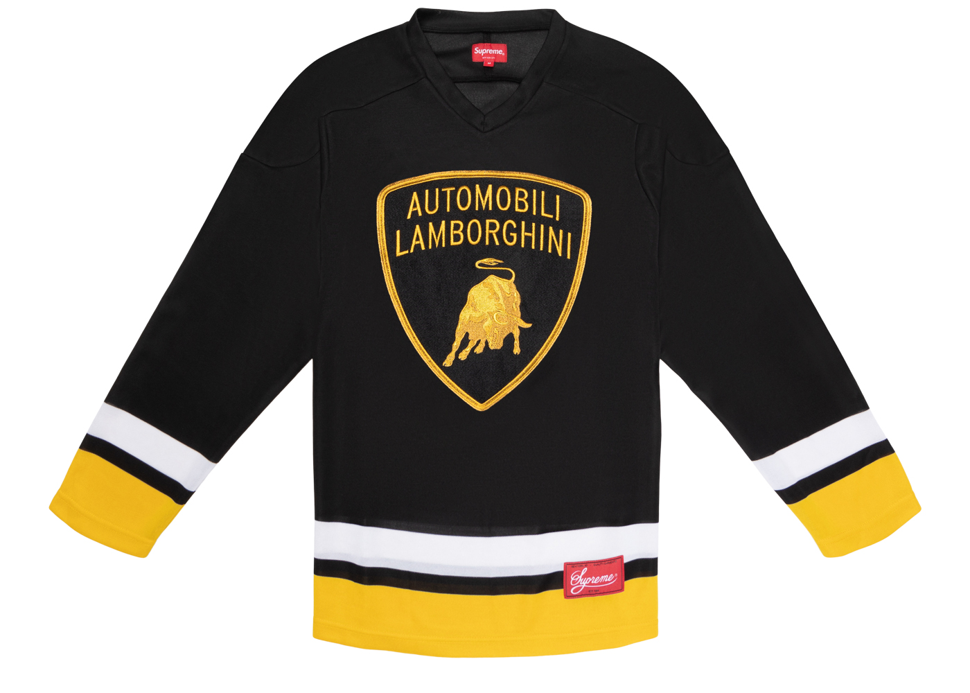 black and yellow hockey jersey