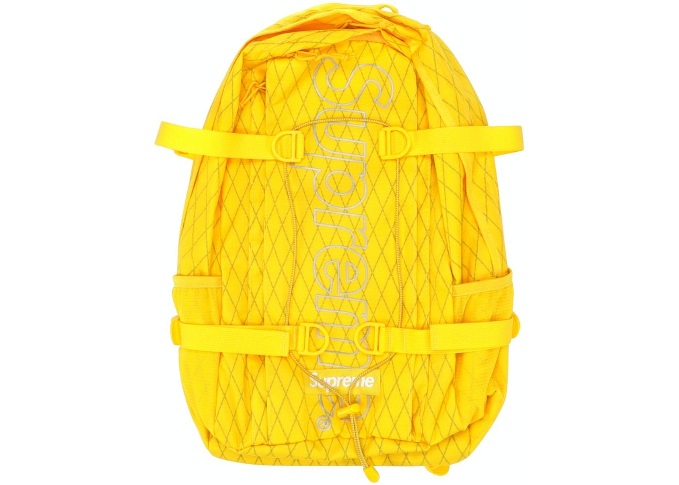 665237c71 Supreme Backpack (FW18) Yellow - FW18