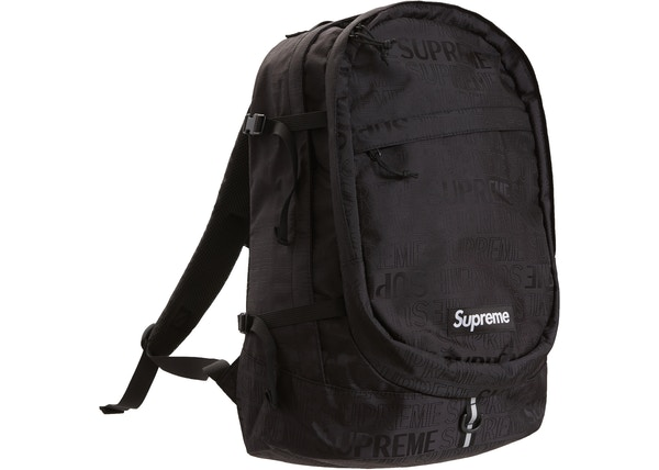 8f6fe908e9b Supreme Backpack (SS19) Black
