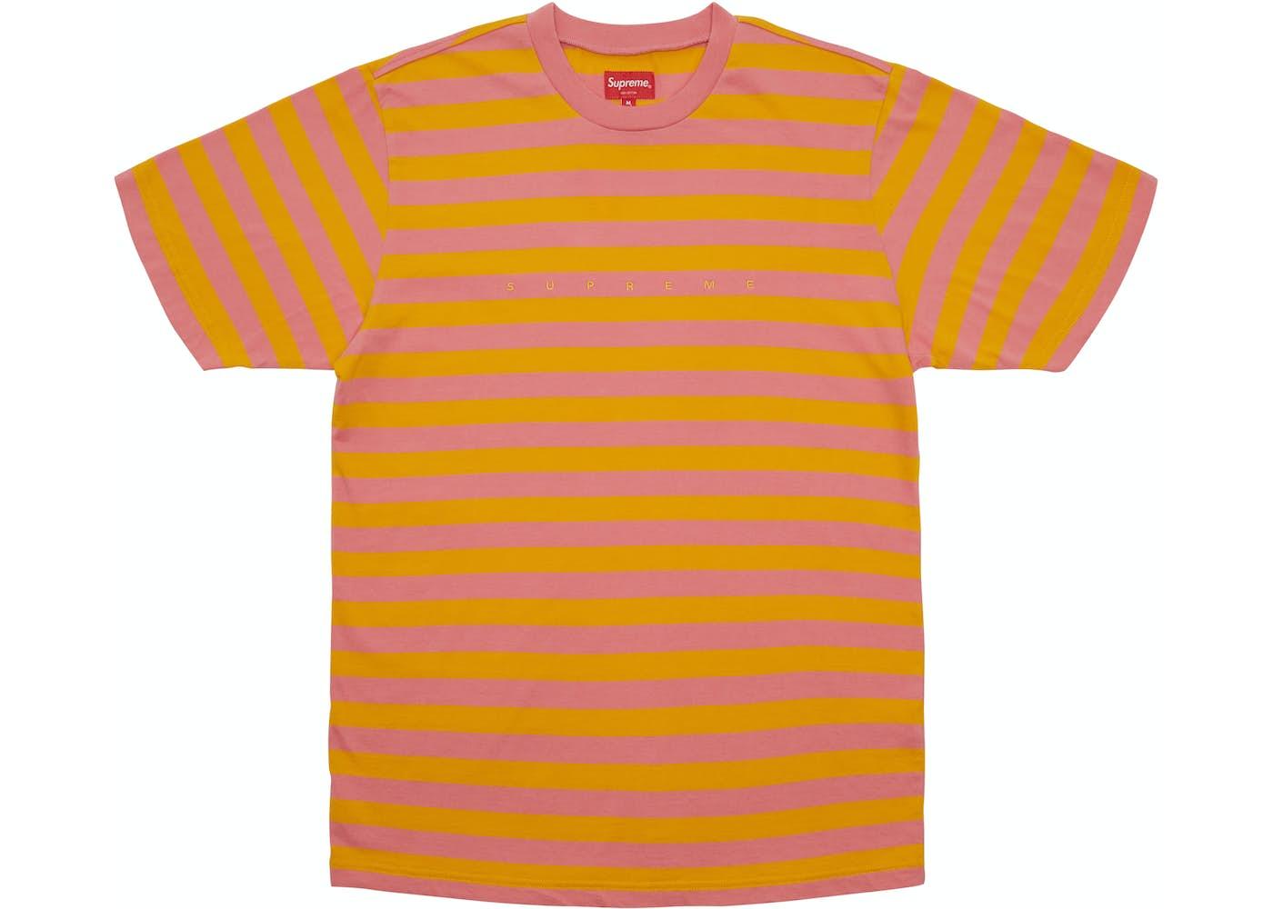 Supreme Bar Stripe Tee Pink