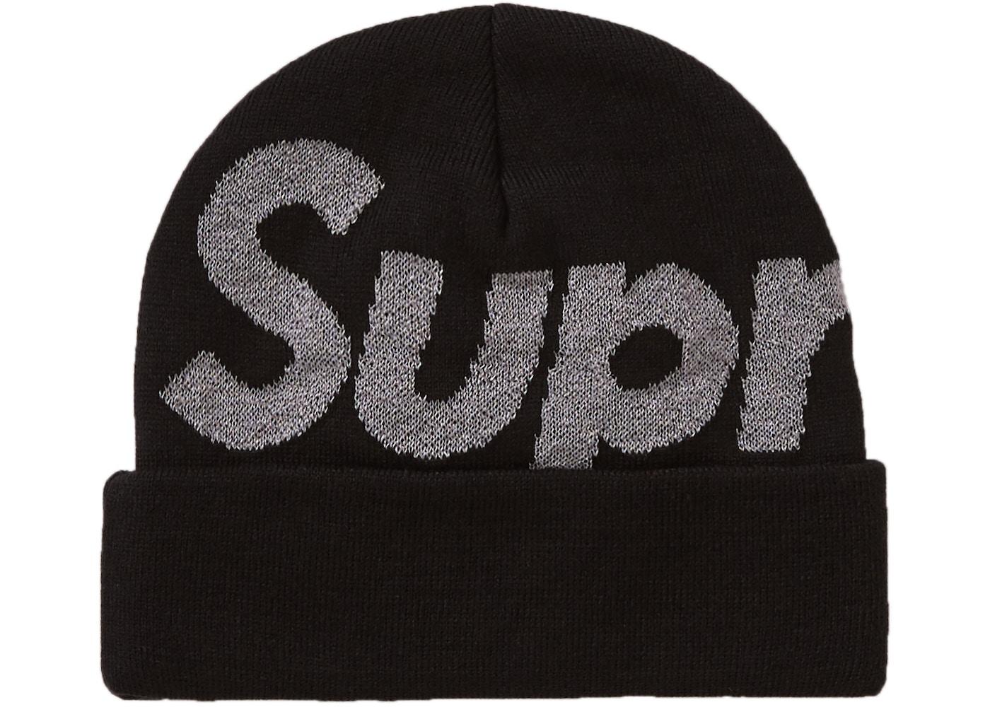 Supreme Big Logo Beanie (FW18) Black. Big Logo Beanie 04018cdbf2c3