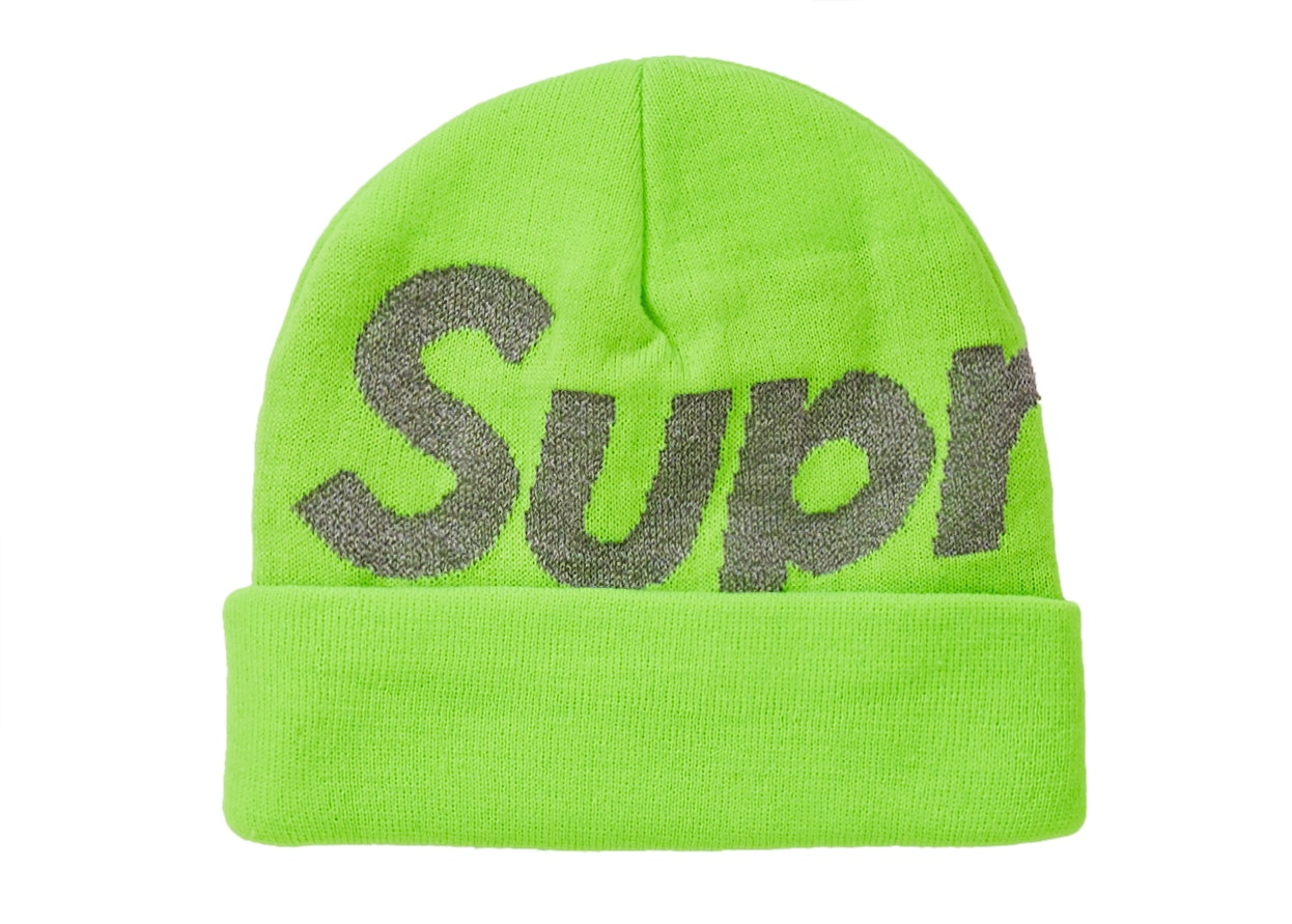 Supreme Big Logo Beanie (FW18) Bright Green