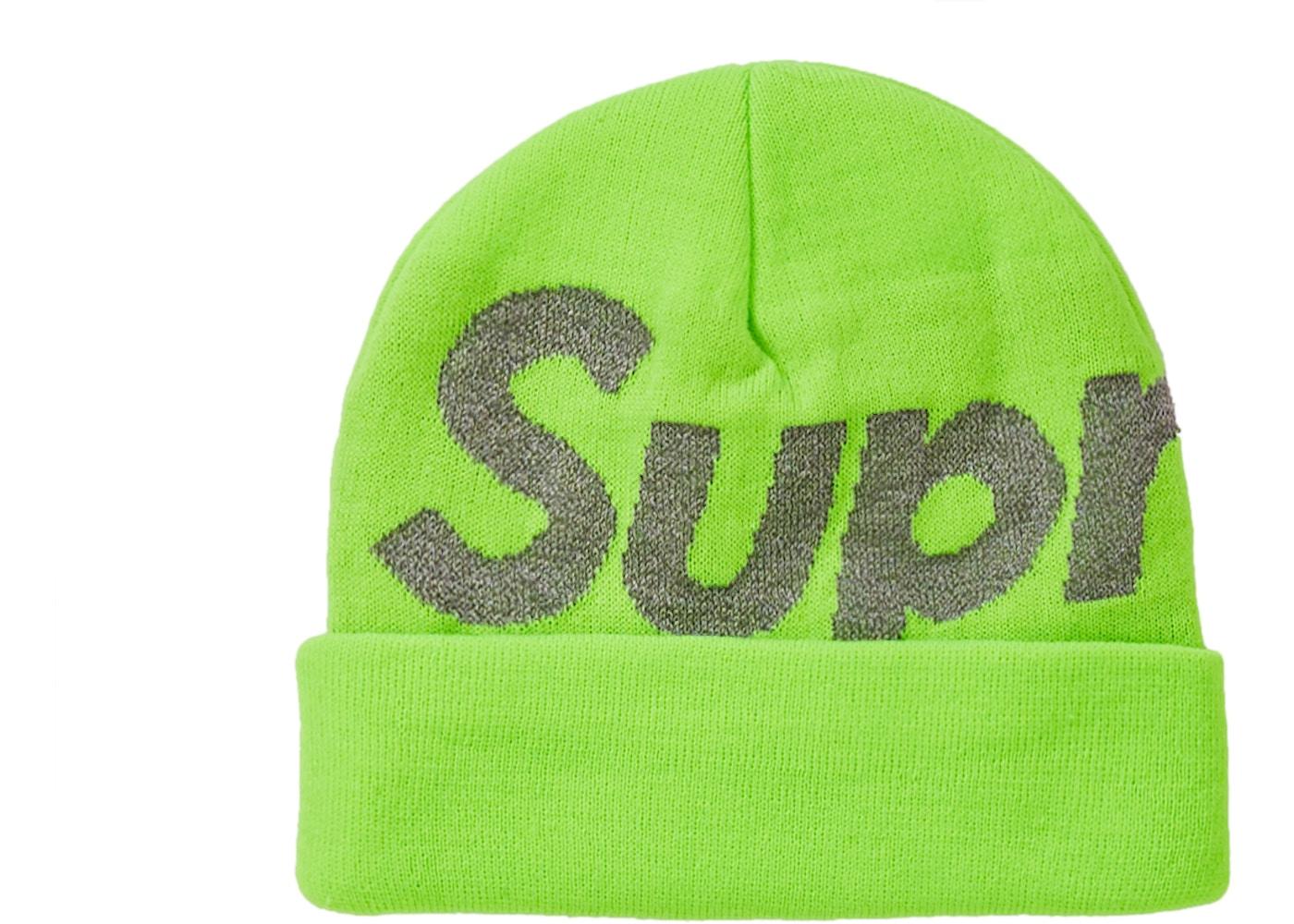 69a7038519b Supreme Big Logo Beanie (FW18) Bright Green. Big Logo Beanie