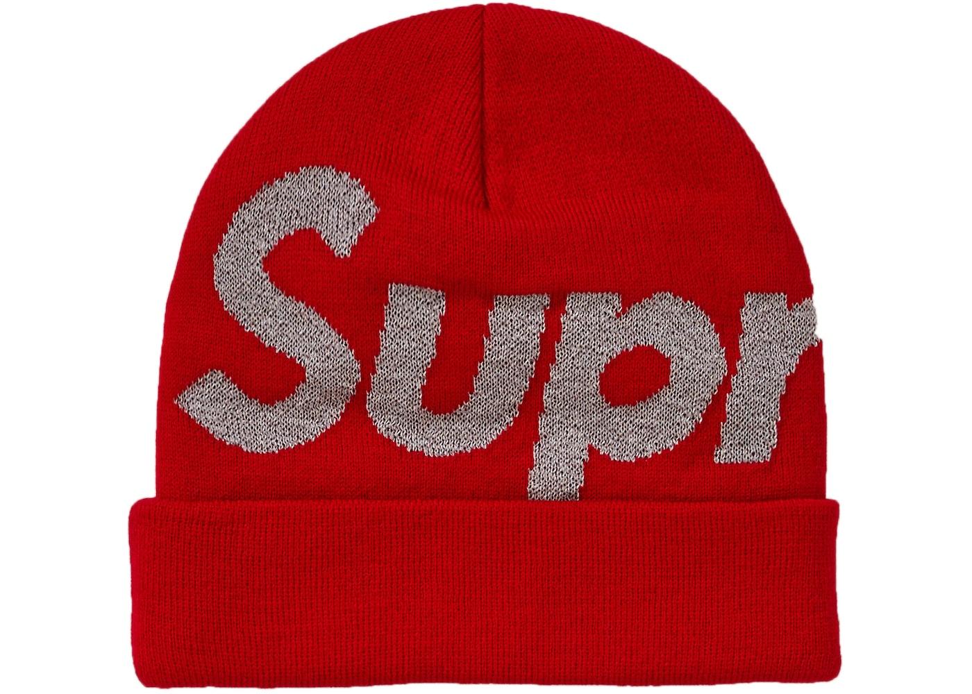 Supreme Big Logo Beanie (FW18) Red - FW18 95201844334
