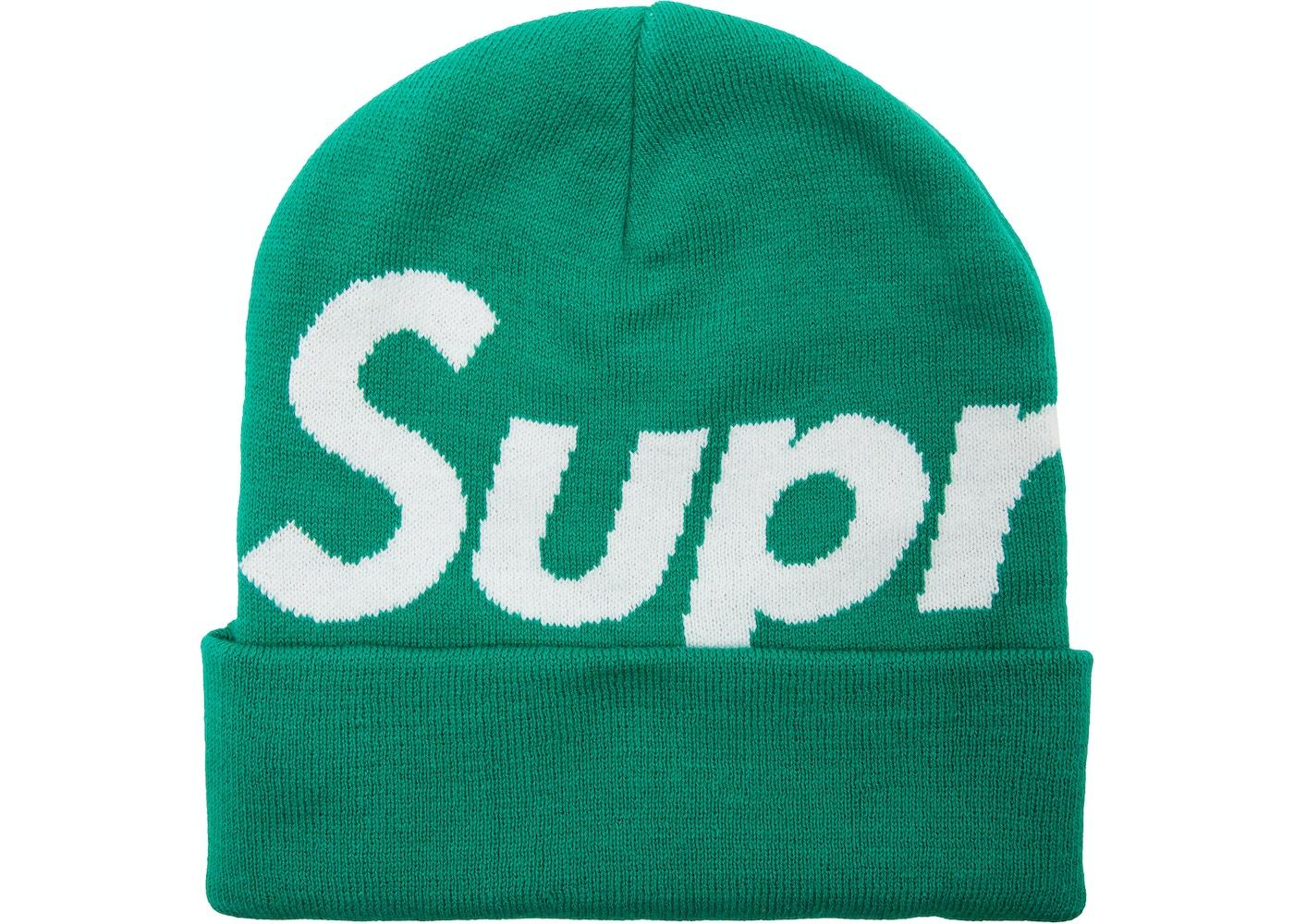 0e7bafe8 Sell. or Ask. View All Bids. Supreme Big Logo Beanie Green