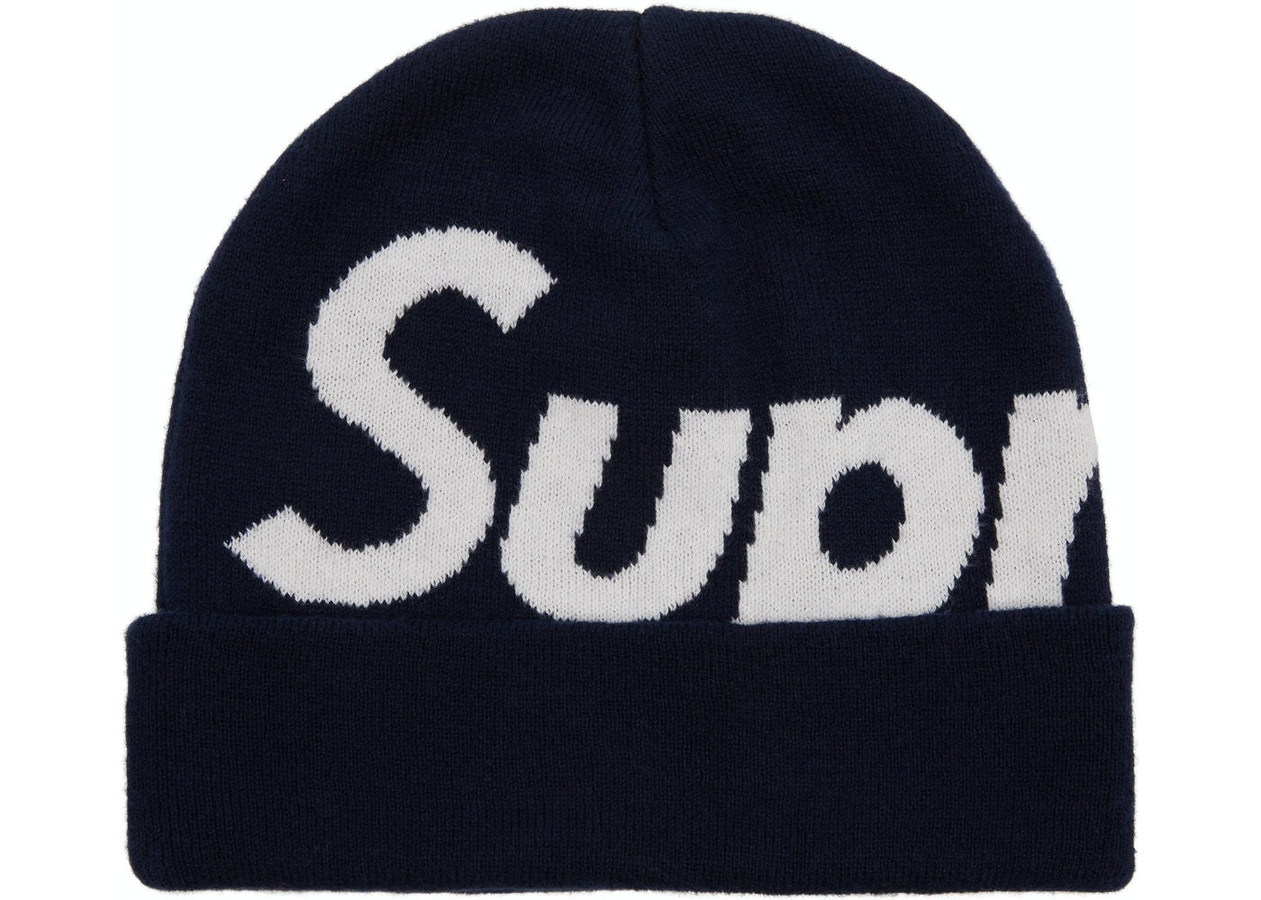 Sell. or Ask. View All Bids. Supreme Big Logo Beanie (FW17) Navy 10ec6cad74a7