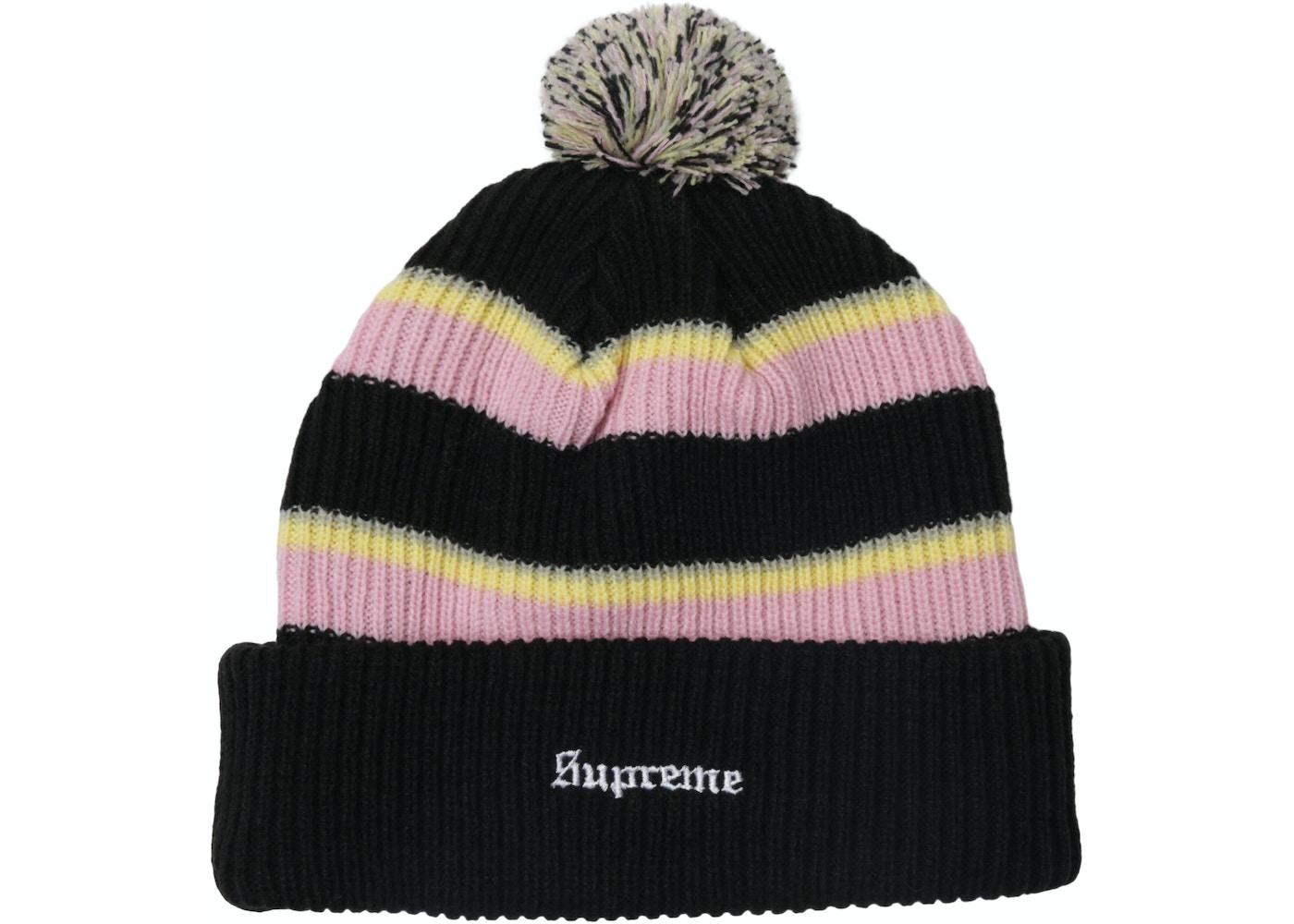 36d8860887d Supreme Big Stripe Beanie Black - FW17