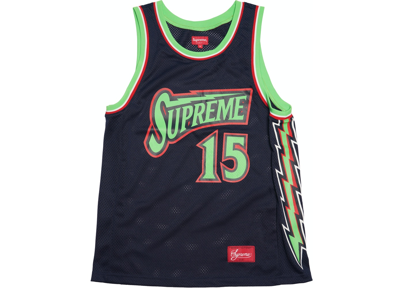 57bf9e1dc342 Sell. or Ask. Size M. View All Bids. Supreme Bolt Basketball Jersey Navy
