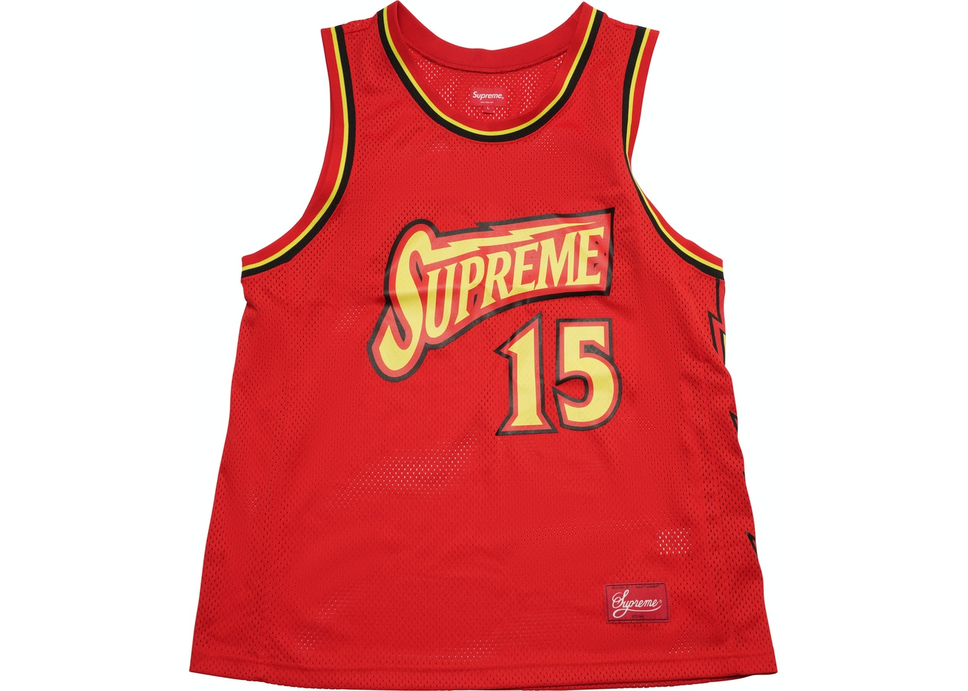 e99acff40 Sell. or Ask. Size  XL. View All Bids. Supreme Bolt Basketball Jersey Red