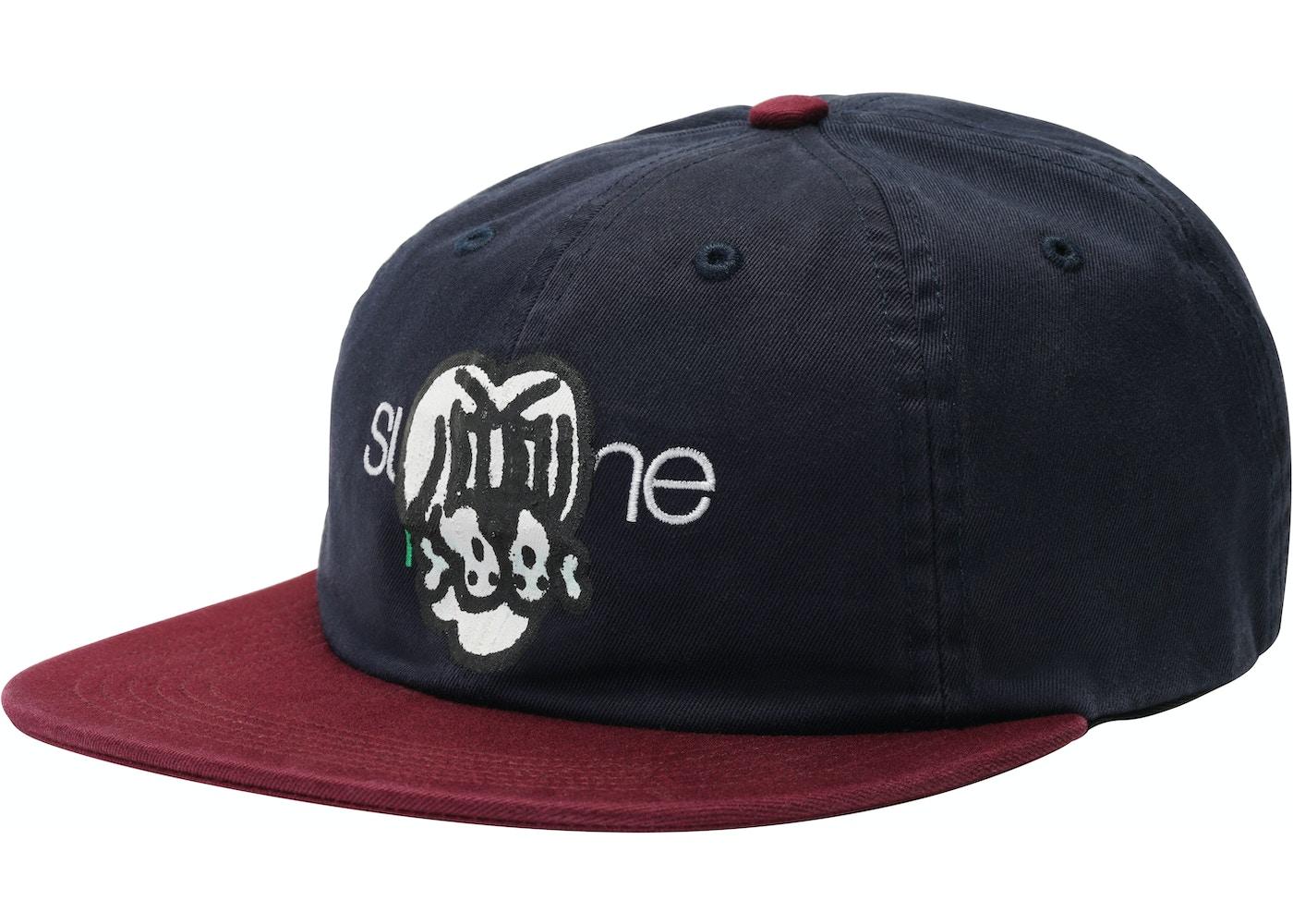 ... Supreme Bone Classic Logo 6-Panel Navy ... 3b076d6aad6