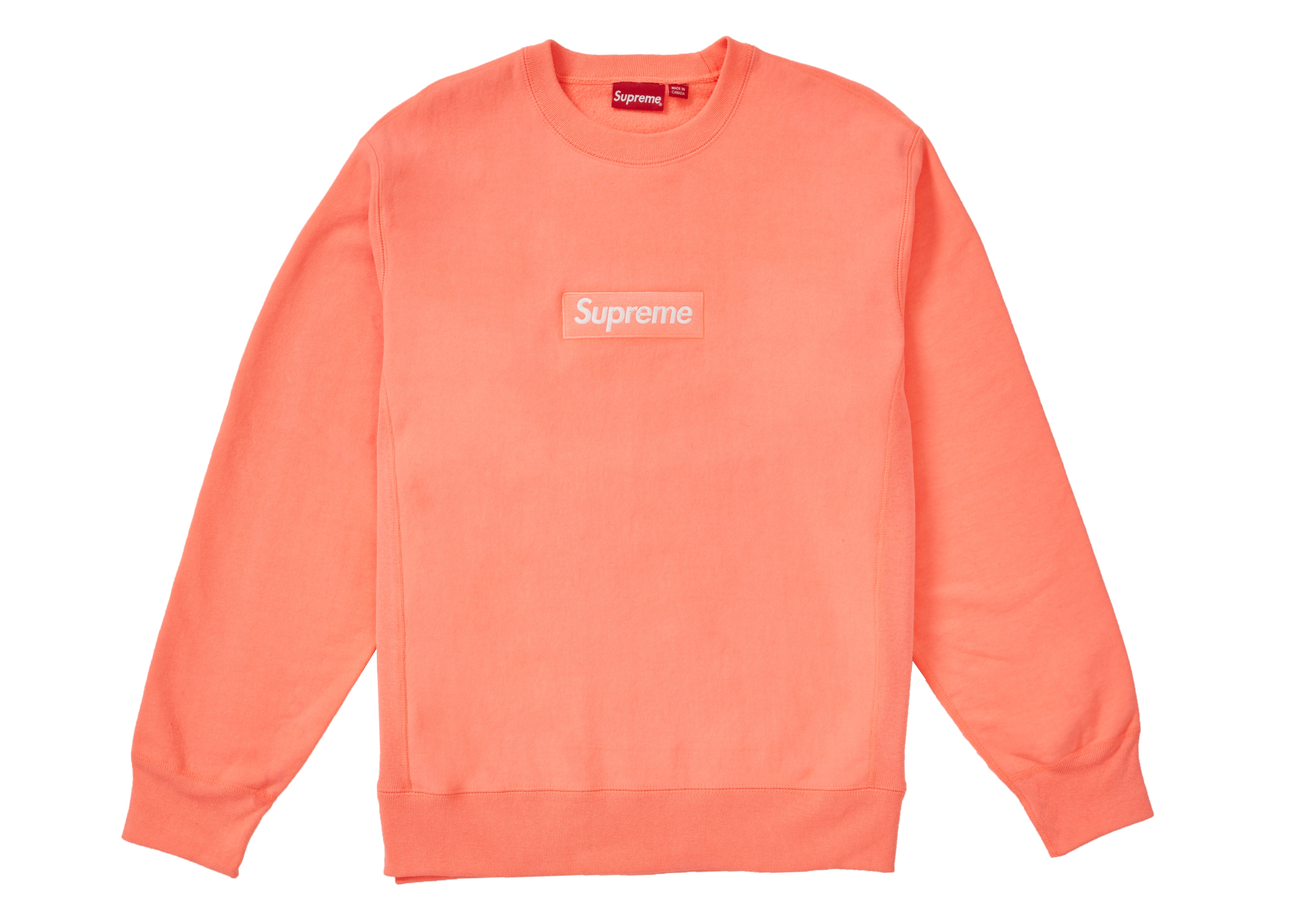 Supreme Box Logo Crewneck (FW18) Fluorescent Pink