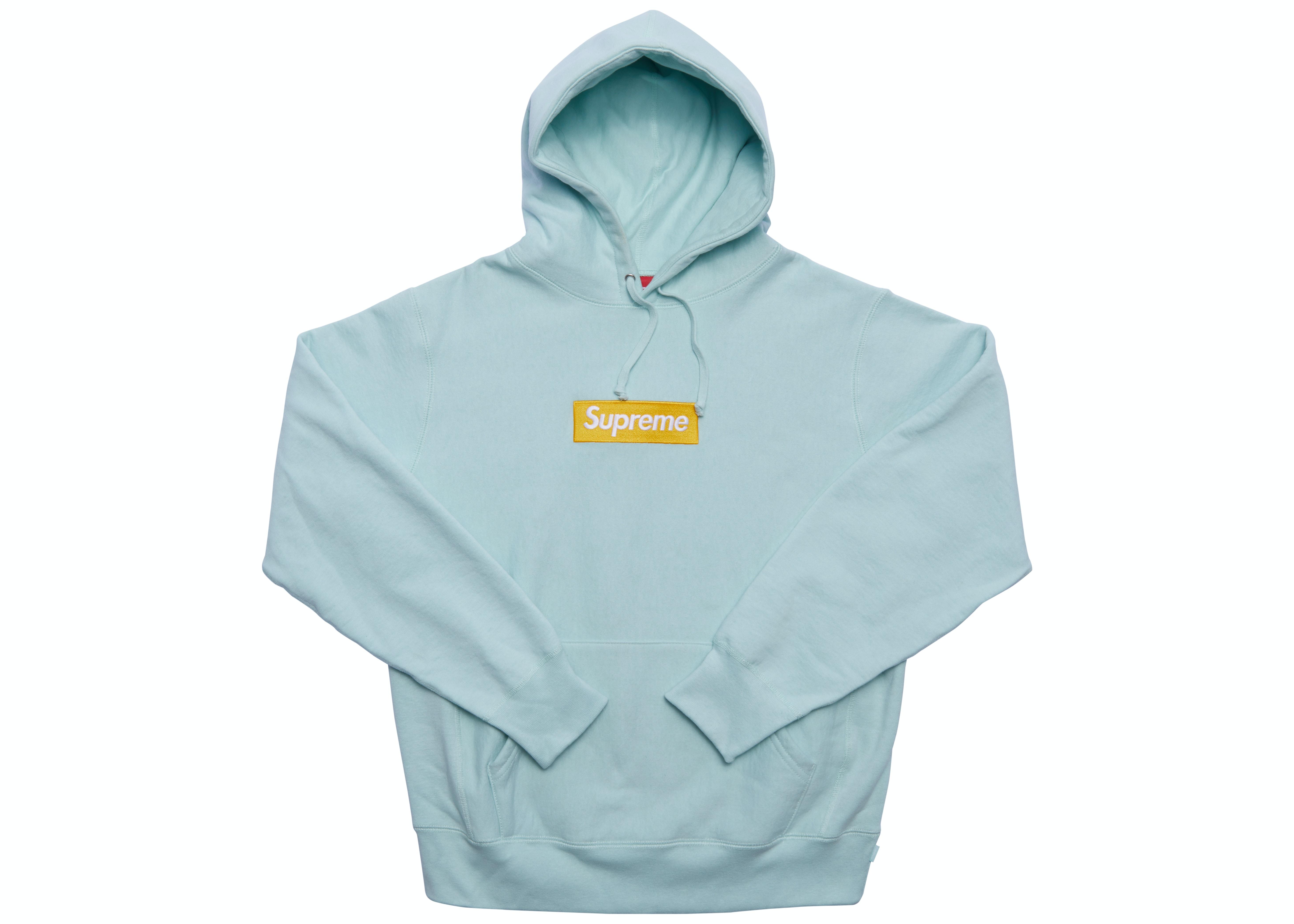 Supreme Box Logo Hooded Sweatshirt (FW17) Ice Blue