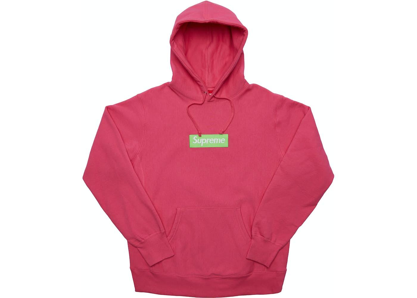 Supreme Box Logo Hooded Sweatshirt Fw17 Magenta