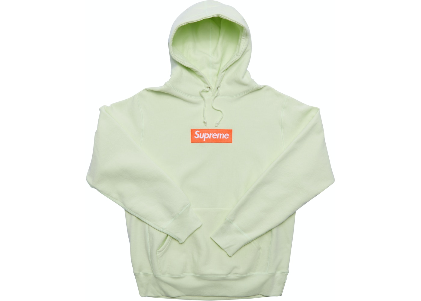 c698c5db Supreme Box Logo Hooded Sweatshirt (FW17) Pale Lime - FW17