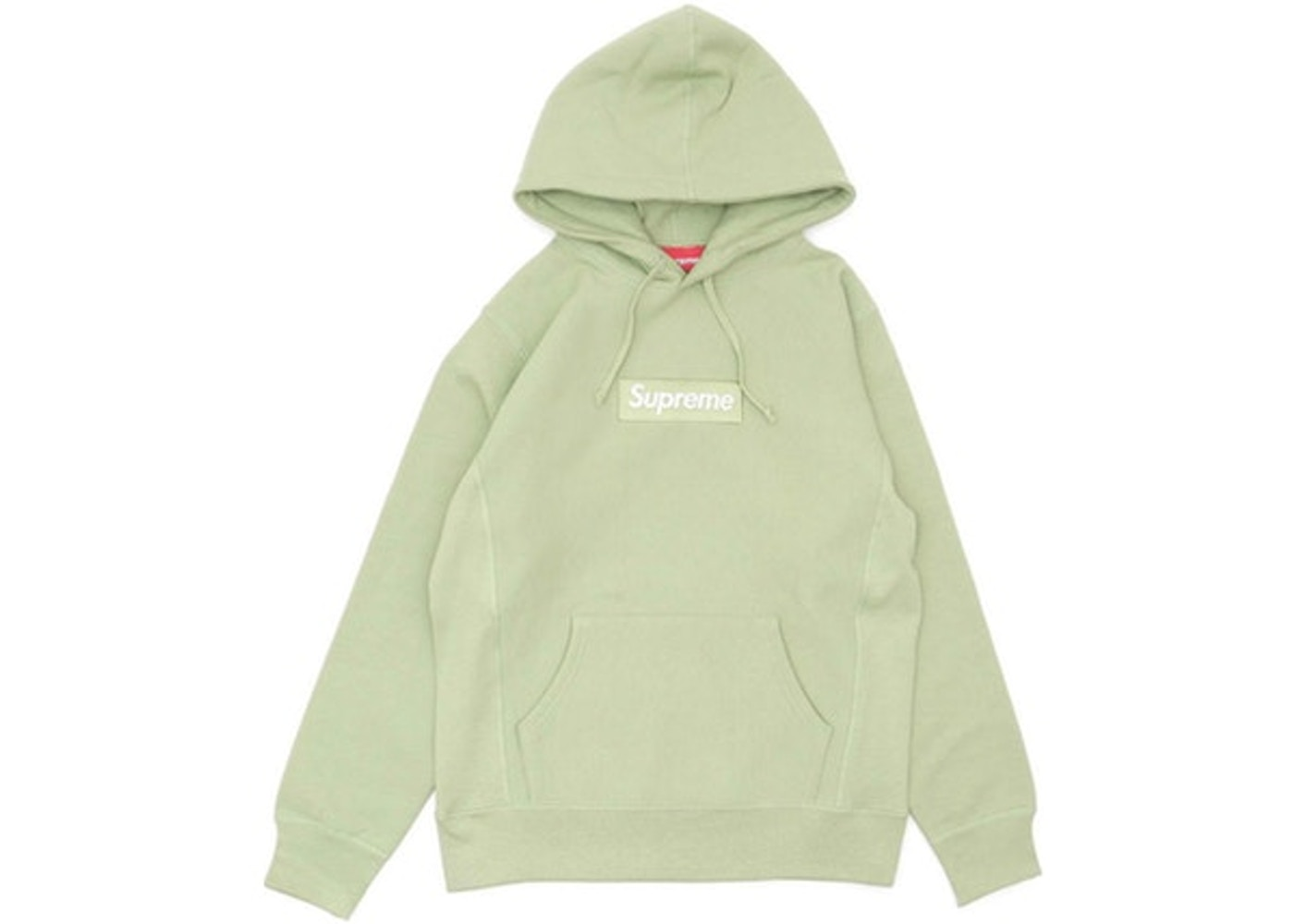 2201191d Supreme Box Logo Hooded Sweatshirt Sage - FW16