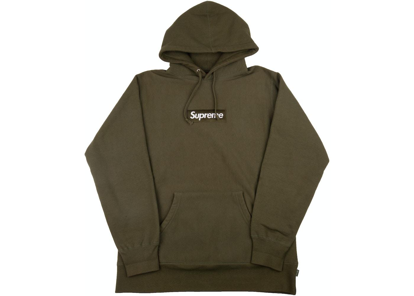 e0df000edf13 Supreme Box Logo Pullover Olive - FW11