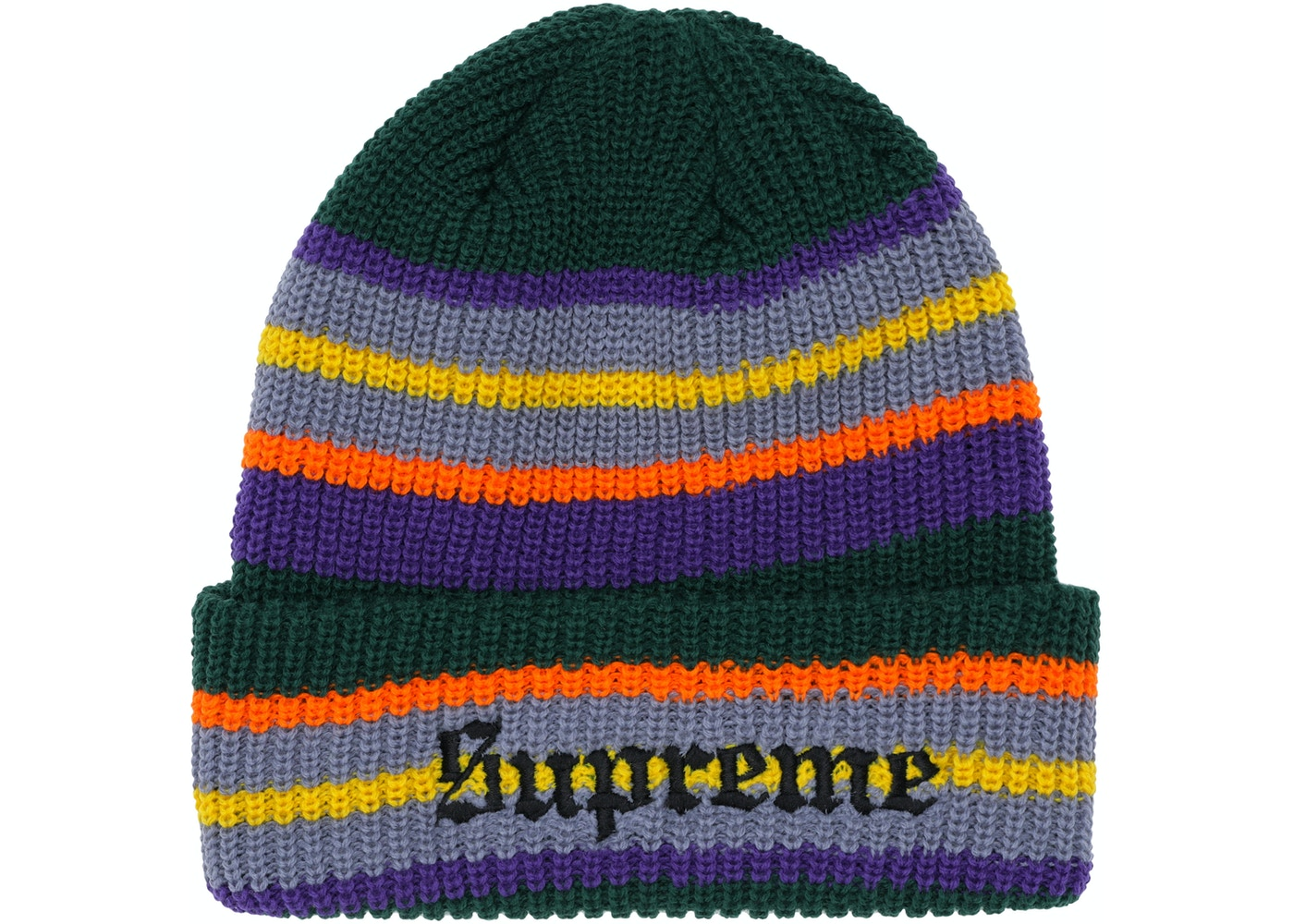 Sell. or Ask. View All Bids. Supreme Bright Stripe Beanie Green eedabb1bf14