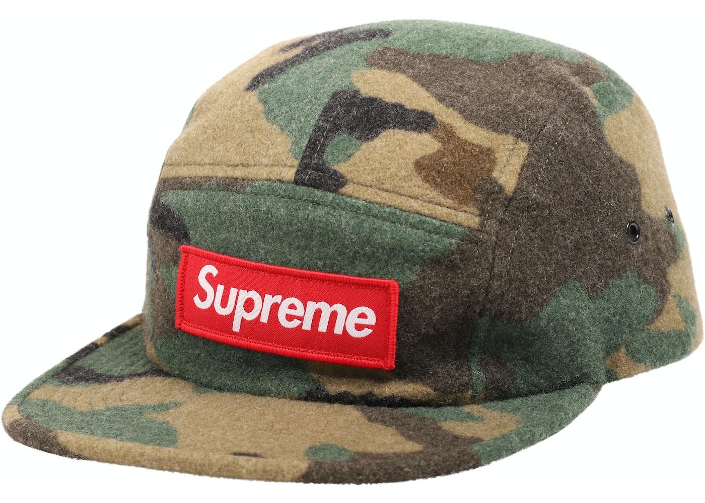 HypeAnalyzer · Supreme Camo Wool Camp Cap Green c077e60fe6f4