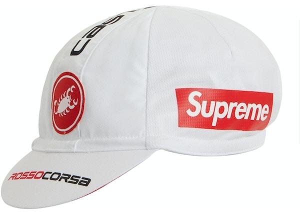 4601484f Supreme Castelli Cycling Cap White