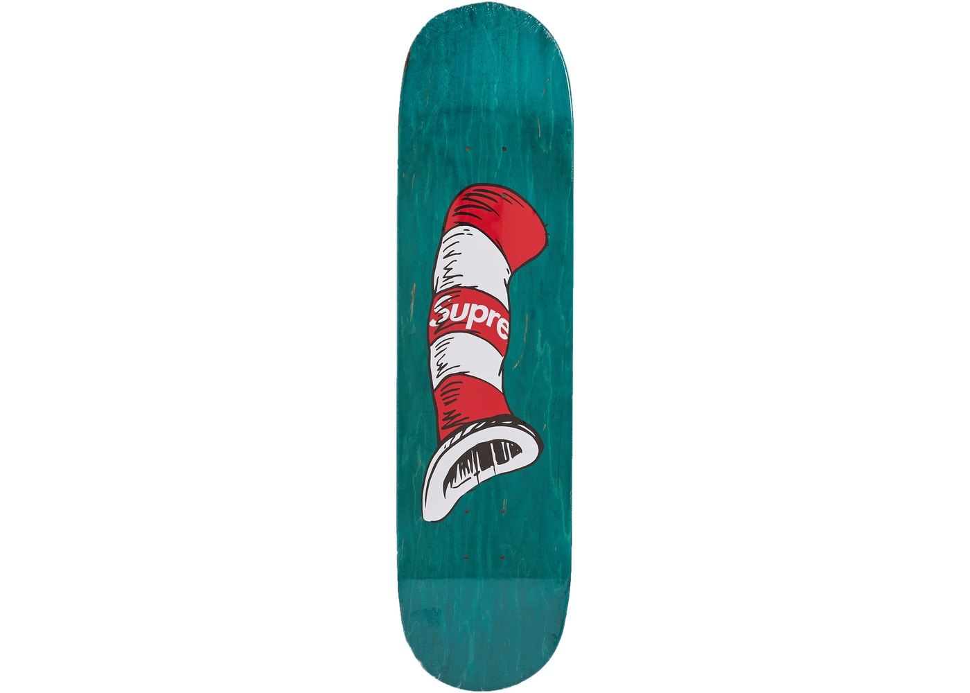 Supreme Cat in the Hat Skateboard Deck Green