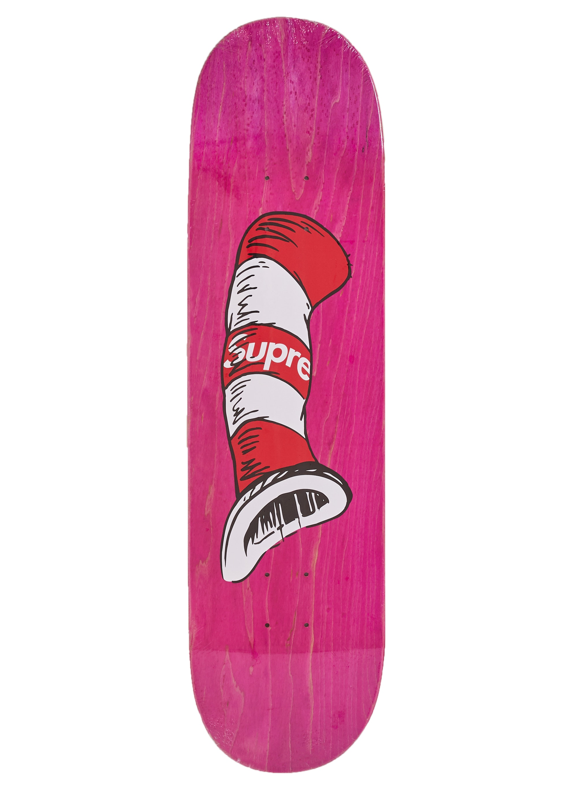 Supreme Cat in the Hat Skateboard Pink