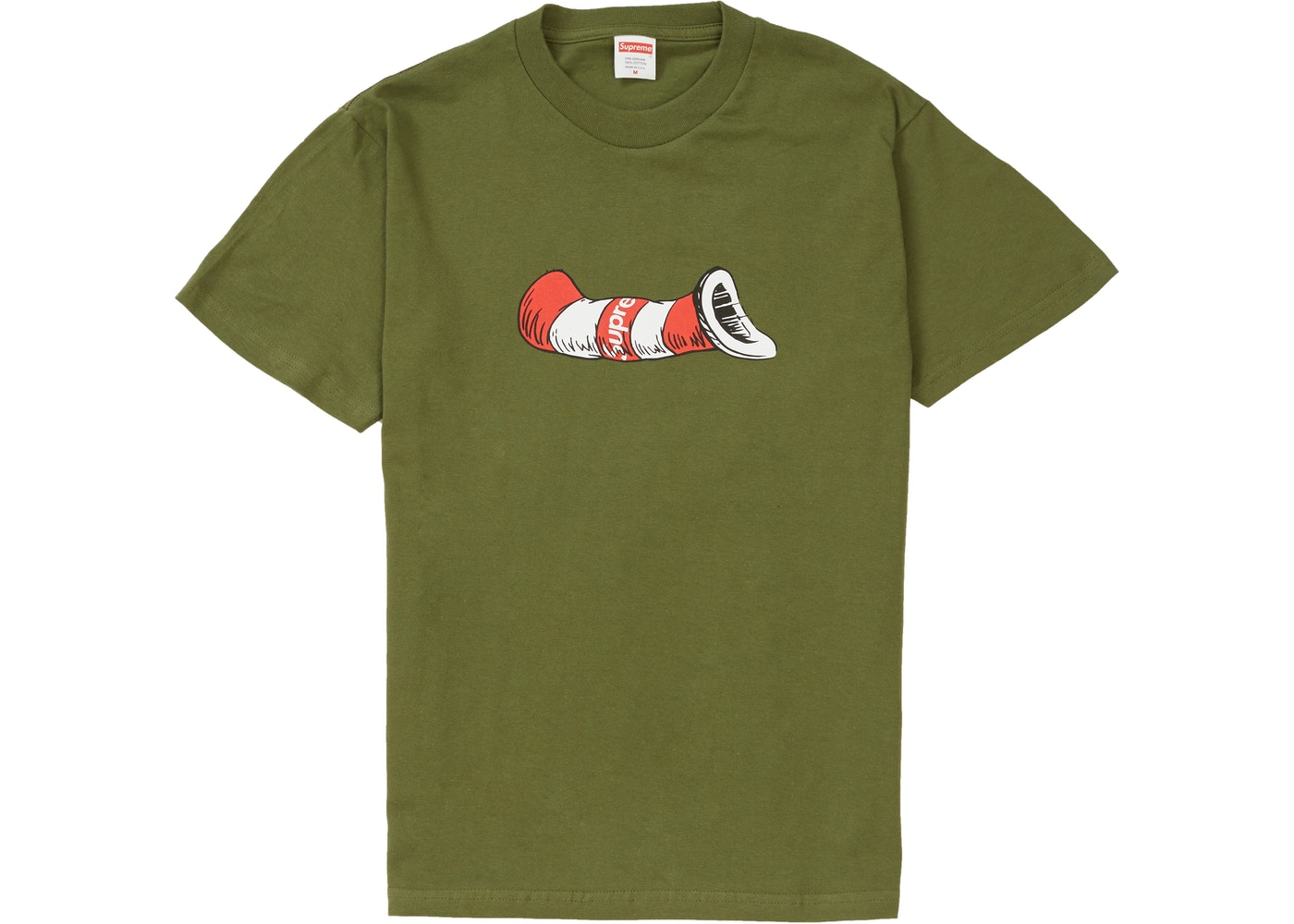76baa99115c3 Supreme Cat in the Hat Tee Olive - FW18