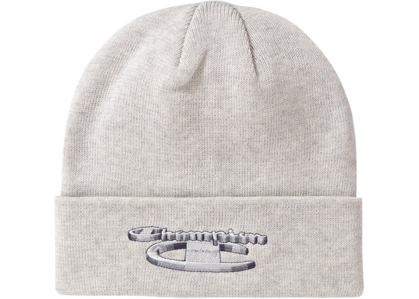 c28a40e3 Supreme Champion 3D Metallic Beanie Ash Grey - FW18