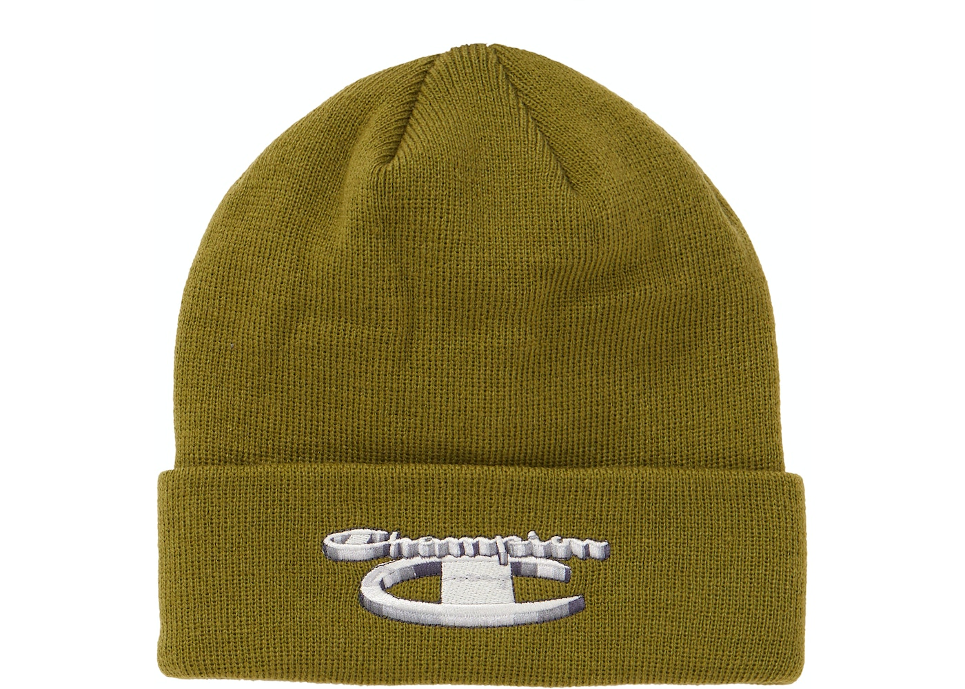 08883cee Supreme Champion 3D Metallic Beanie Olive. Champion 3D Metallic