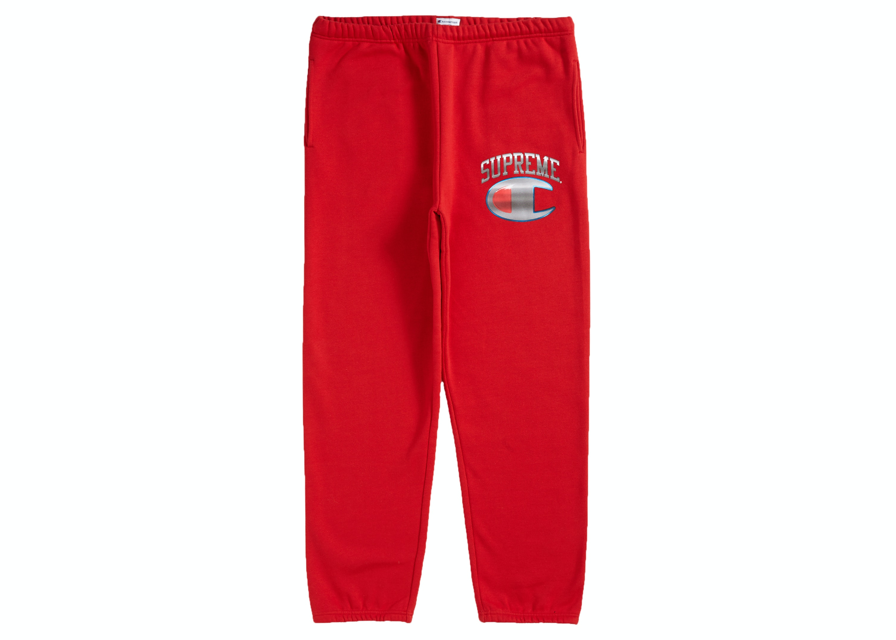 Supreme Champion Chrome Sweatpant Red by Stock X