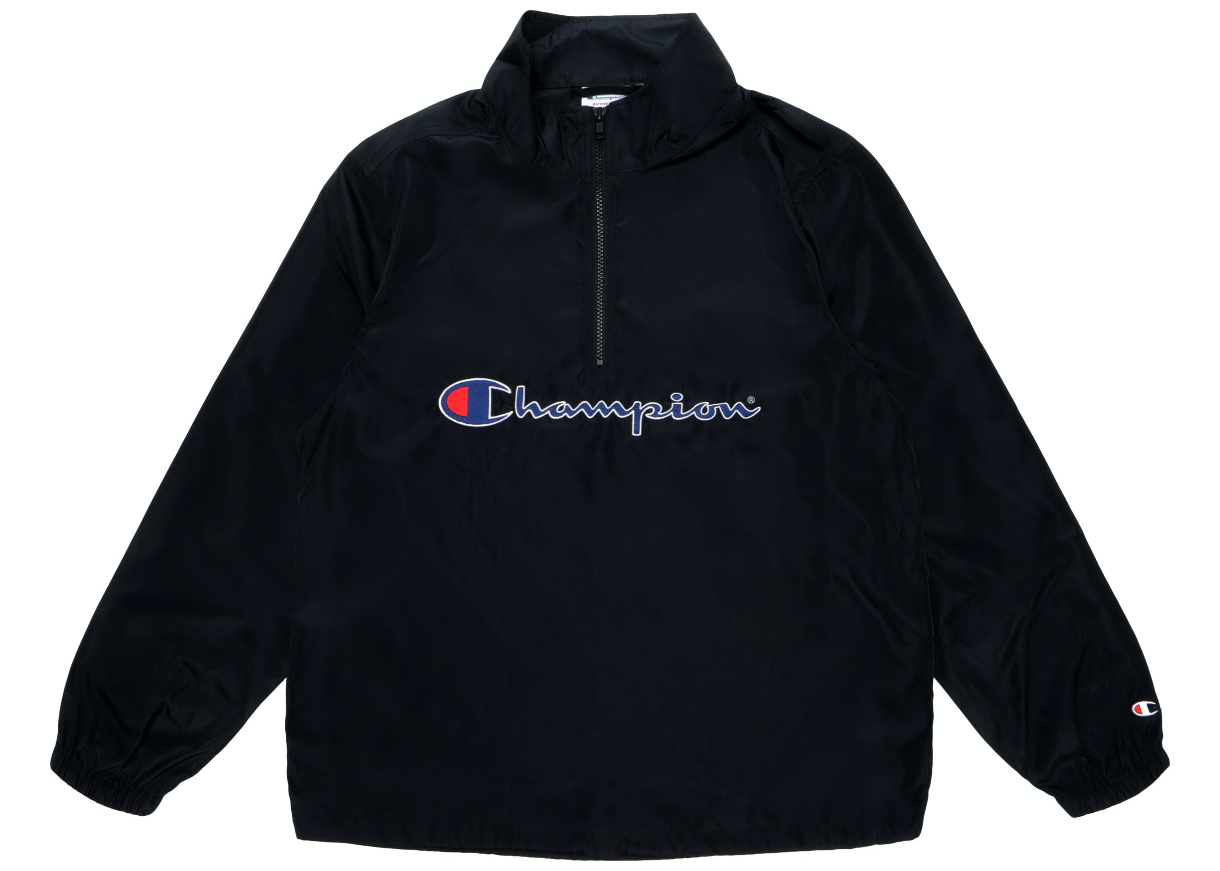 Champion Half Zip Pullover Black