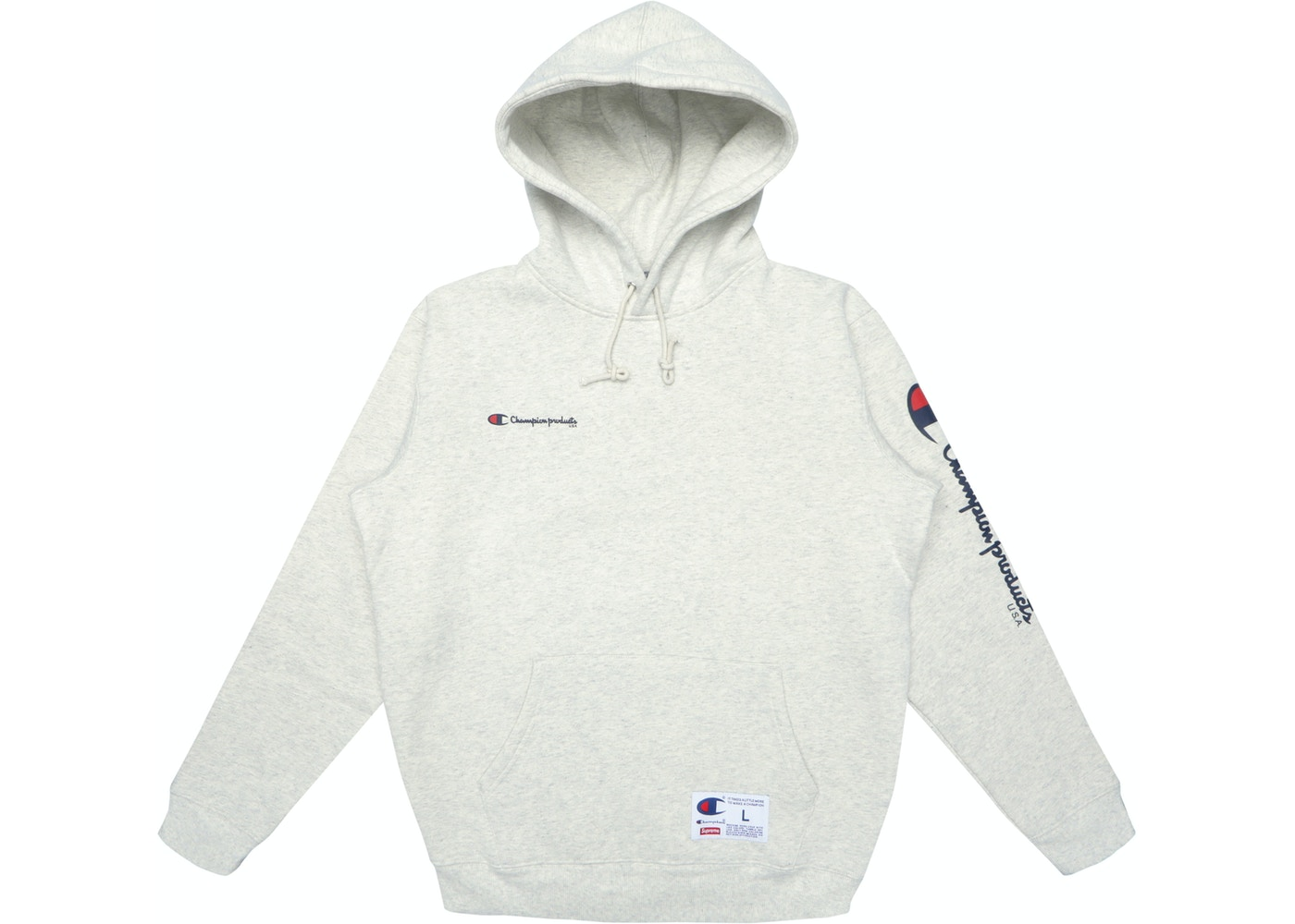 4cf5bc412e3 Sell. or Ask. Size L. View All Bids. Supreme Champion Hooded Sweatshirt Grey