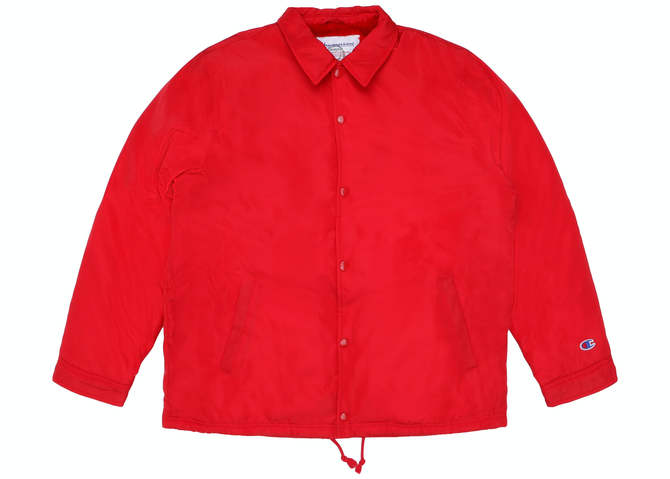Supreme Champion Label Coaches Jacket Red