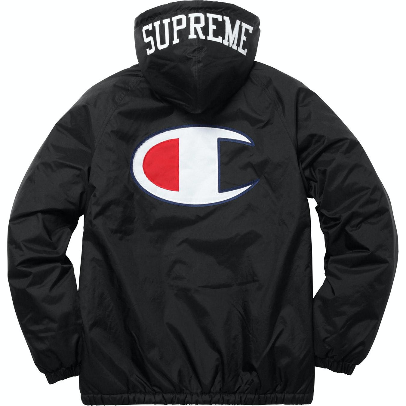 Supreme Champion Sherpa Lined Hooded Jacket Black