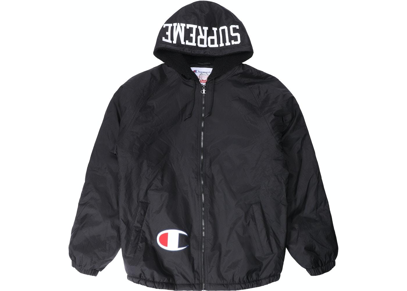f9778f7ecde62 Supreme Champion Sherpa Lined Hooded Jacket Black - FW17