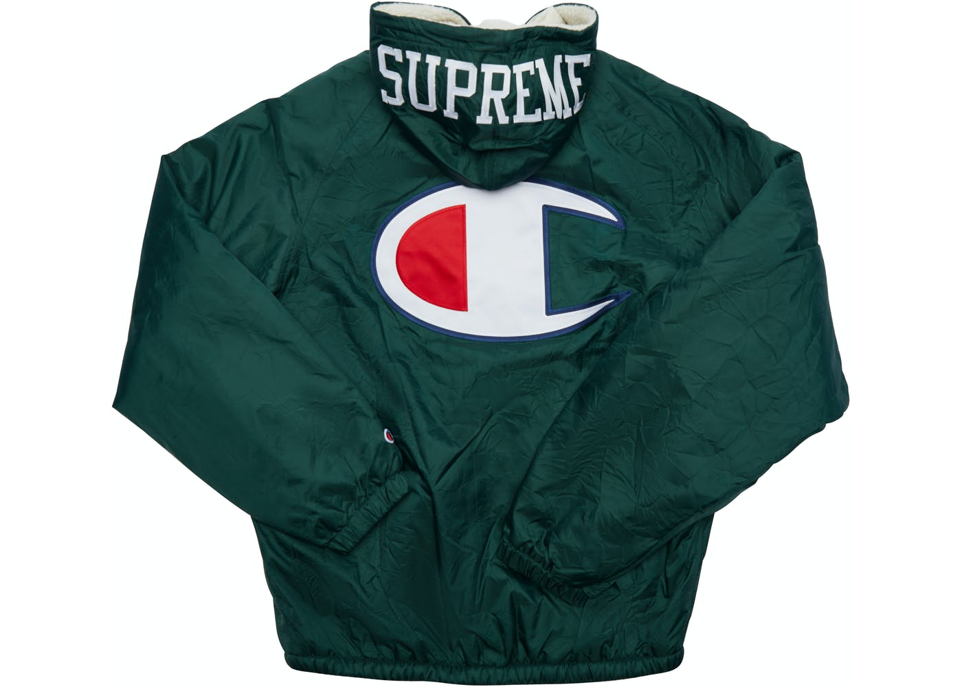 Supreme Champion Sherpa Lined Hooded Jacket Dark Green