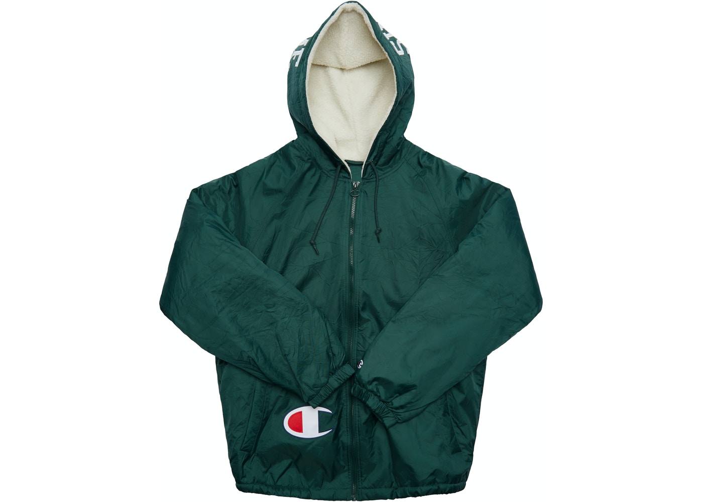 246230218050 Sell. or Ask. Size M. View All Bids. Supreme Champion Sherpa Lined Hooded Jacket  Dark Green