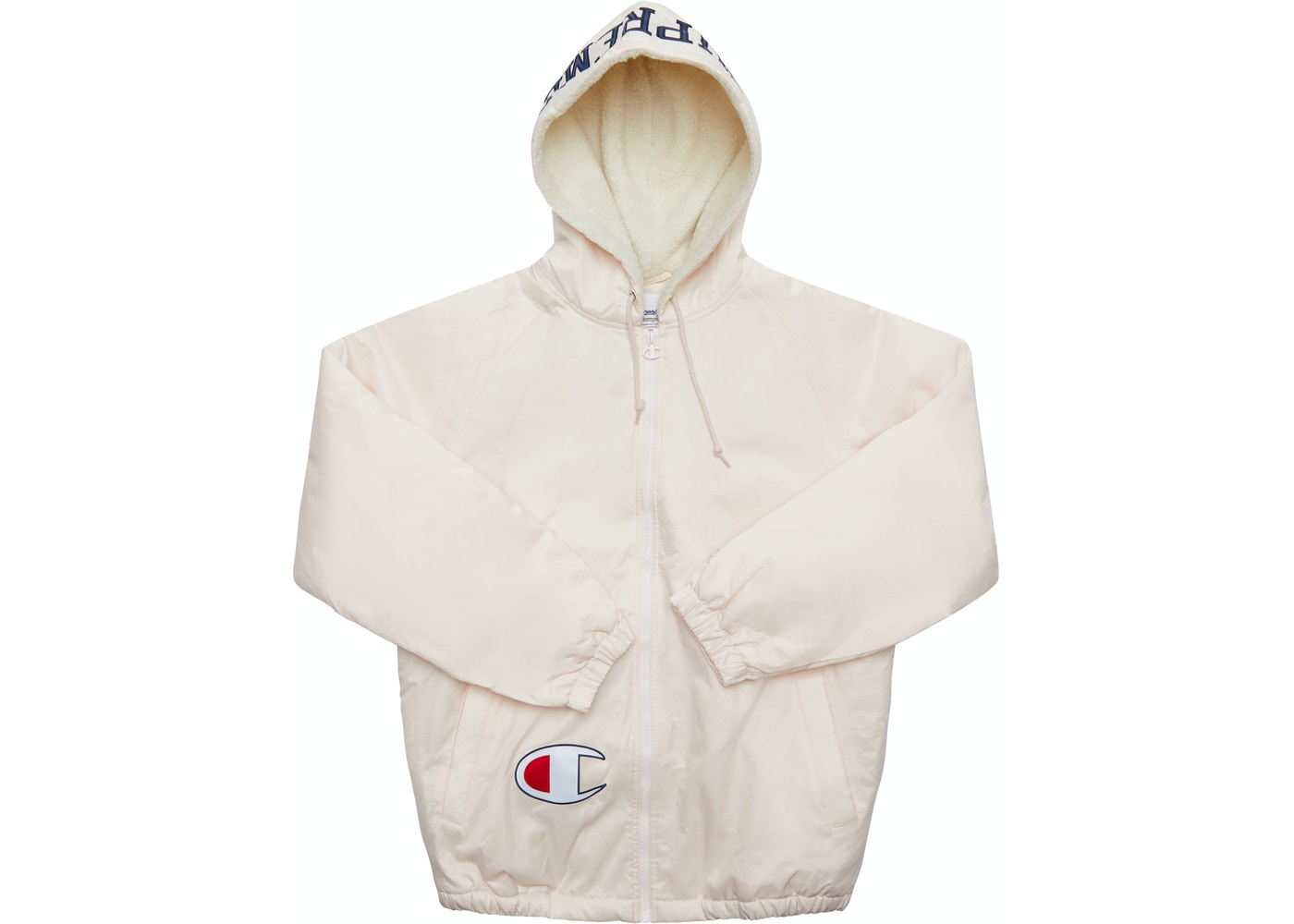 6353b774a140 Supreme Champion Sherpa Lined Hooded Jacket Light Pink - FW17