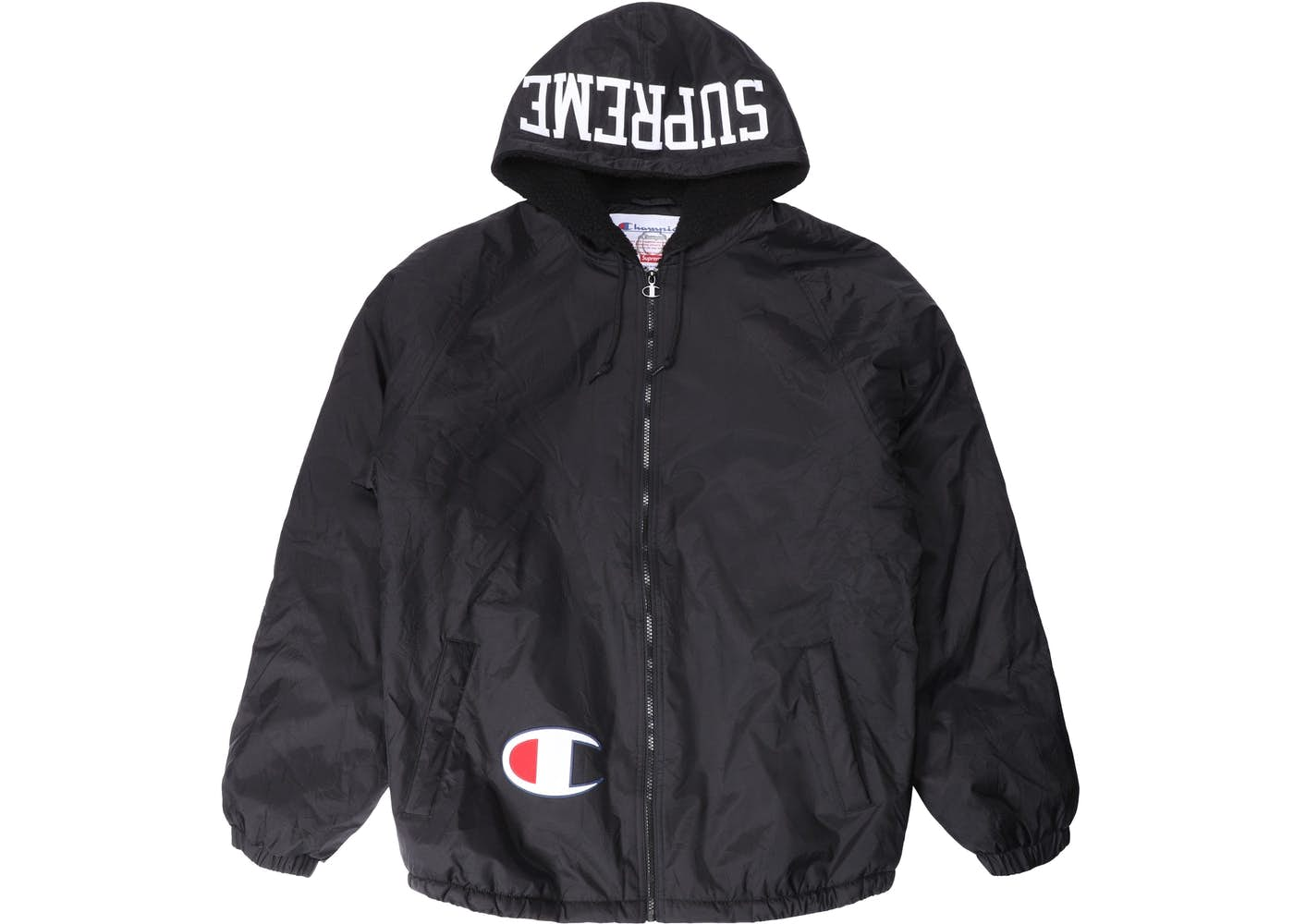 Supreme Champion Sherpa Lined Hooded Jacket Navy