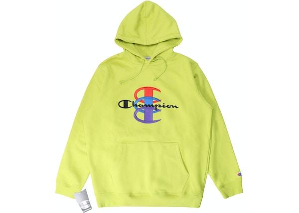 huge range of ever popular dirt cheap Supreme Champion Stacked C Hooded Sweatshirt Bright Green